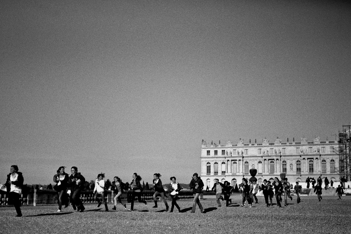 School children in Paris, France